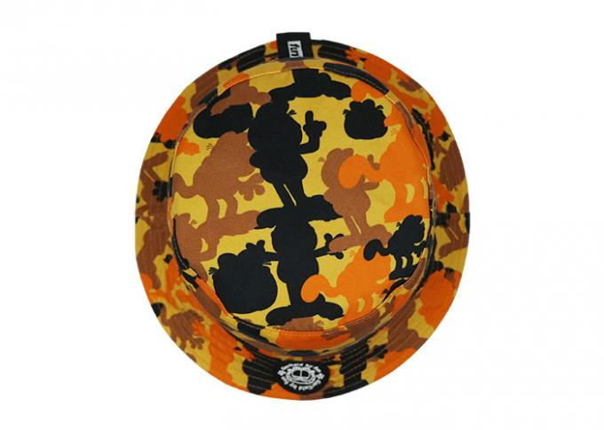 FUN printing embroidery yellow camouflage adult fisher man bucket hat