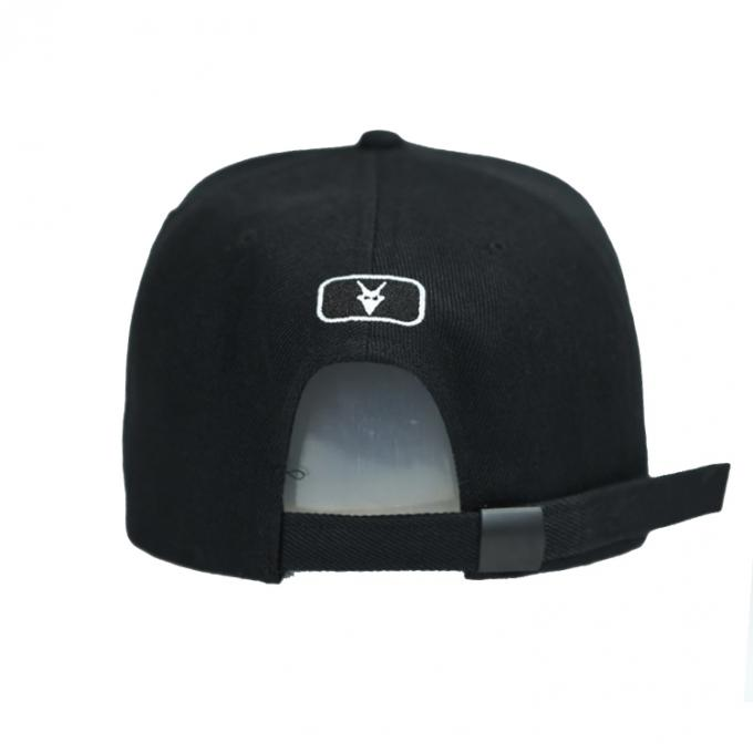 Curved Visor Personalized Embroidered Baseball Caps Leather Material