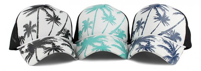 Sublimation Custom 5 Panel Trucker Cap Adults Size Adjustable Style Mesh Hat