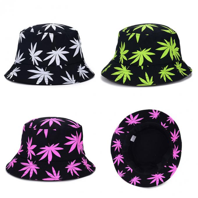 Fashionable Summer Childrens Fitted Hats Bucket Style With Logo Printed