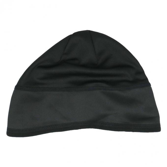 Dry Fit Custom Printed Running Beanie Hat , 100% Polyester Swim Cap For Winter