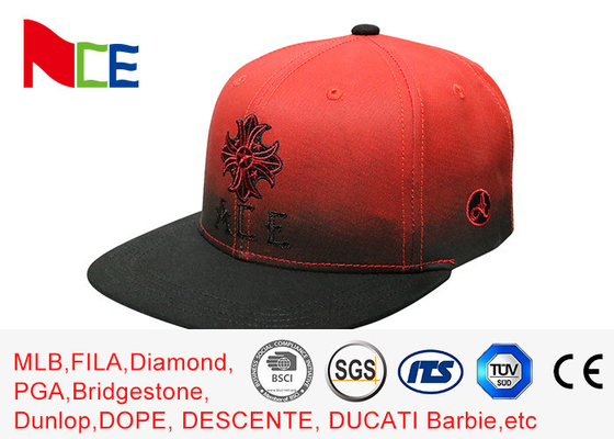 Red Tone Embroidery Cool Vintage Snapback Hats , Snapback Fitted Hats Durable