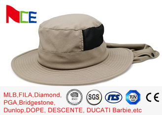 Joint Khaki Fishman Bucket Hat Protect neck from sunburn With Adjustable