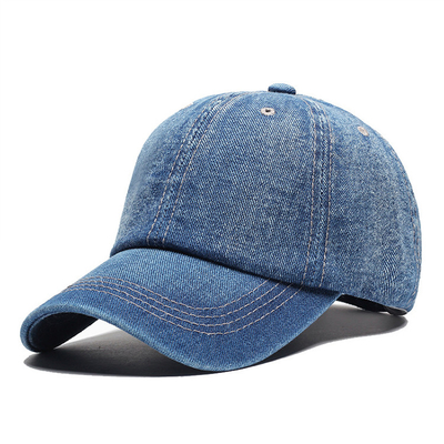 Washed Cotton Twill Baseball Cap , Durable Plain Distressed Baseball Cap