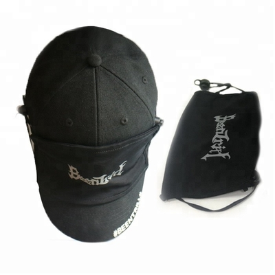 Cool Design Casual Printed Baseball Caps / Boys Girls Baseball Hat With Cotton Mask