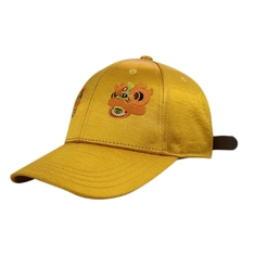 Beautiful Yellow Satin Baseball Cap , City Sport Caps For Sun Protection