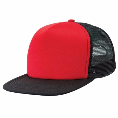 5 Panel Unisex Flat Brim Snapback Hats With Plastic Buckle Back Closure