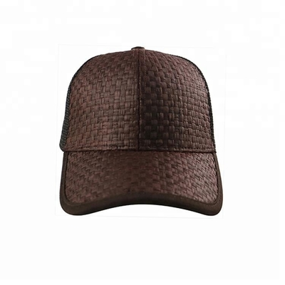 Fashion Cool Design 5 Panel Trucker Cap Custom Size Brown Color Eco Friendly