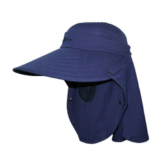 Navy Blue UV Protection Floppy Outdoor Boonie Hat For Hiking Plain Type