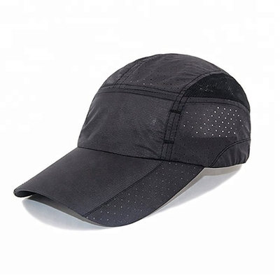 Fashionable Nylon 5 Panel Hat , Custom Sport Dry Fit 5 Panel Golf Hat