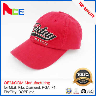 China Personalized embroidered dad cap , 100% cotton dad hat six panel Eco friendly supplier