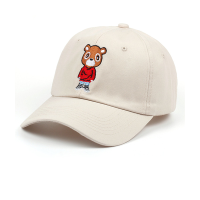 100% Cotton Childrens Fitted Hats Sports Cap Plain custom Embroidered logo