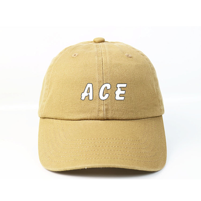 Metal Buckle Embroidered Baseball Caps 6 Panel Printed Logo For Dad
