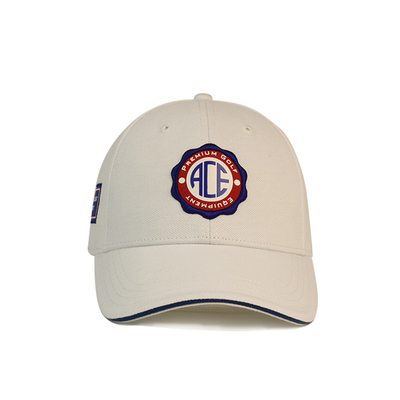 Custom White Printed Baseball Caps / Gorras Baseball Hat 3D Rubber Patch Cotton