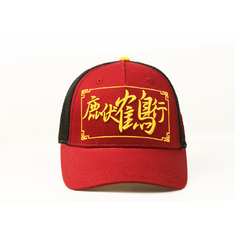 Red Color Promotion 5 Panel Trucker Cap With Mesh Patch LOGO Adult Use