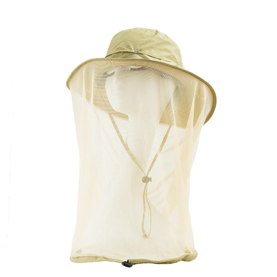 Quick Dry Anti - Mosquito Head Net Wide Brim Sun Hat Outdoor Beekeeping Protect Anti - Sting Mesh Breathable Cap