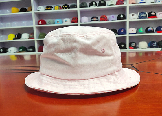 Wholesale customize Pink your own design logo sun summer bucket fishing hats caps