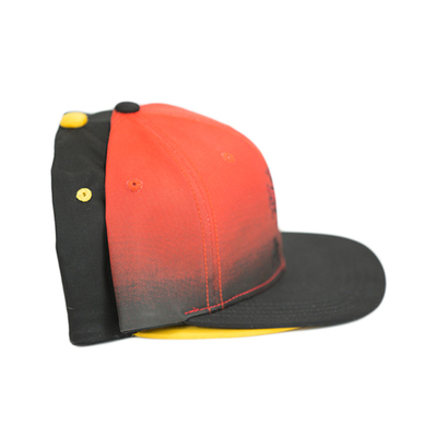 Wholesale gradient ramp color Customize 6panel logo flat bill plastic buckle baseball sports Hats Caps
