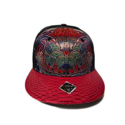Sublimation Printed Snapback Caps 3D Embroidery Logo Size  56-58cm