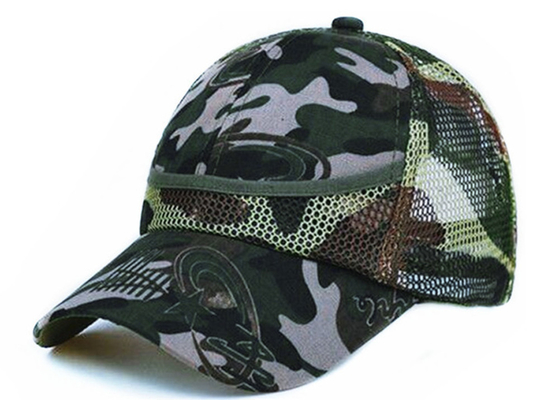 100% Polyester Mesh Unisex Adjustable Sport Casual Cap