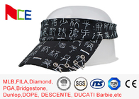 Rubberized Silk Printed Sun Visors , Mens Beach Visor Running Street Style