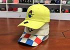 China Yellow Cotton Twill Unstructured Blank Dad Hats With Metal Buckle company
