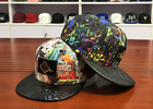 China Plastic Buckle Flat Brim Snapback Hats Colorful Digital Sublimation Printed Leather Patch company