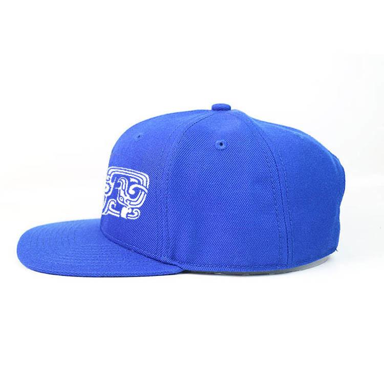 Blue Printed Flat Bill Hip Hop Snapback