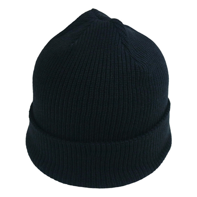 China Female Soft Wool Oversized Knit Beanie Hats Solid Crochet Beanie Cap Black Gray factory