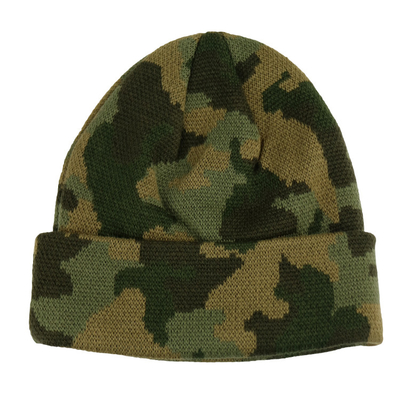 China Custom Made Camouflage Knit Beanie Hats For Guys 56-60cm Size Breathable factory