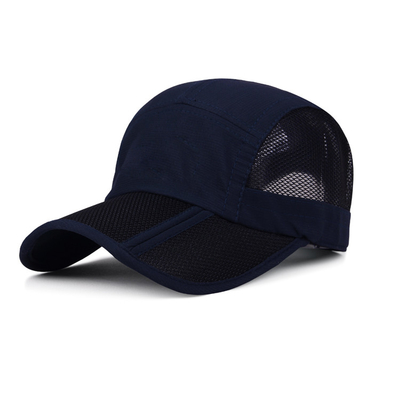 Light Weight 5 Panel Camper Hat Sports Style Blank Mesh Back Breathable
