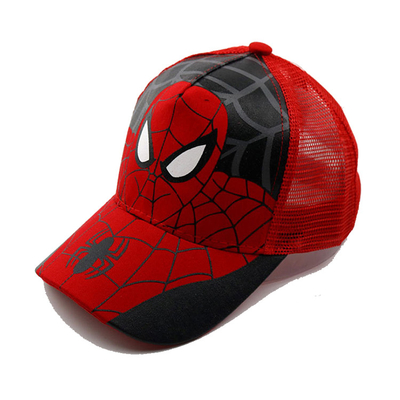 Durable Kids Spiderman Baseball Cap , Cool Design Toddler Boy Baseball Caps