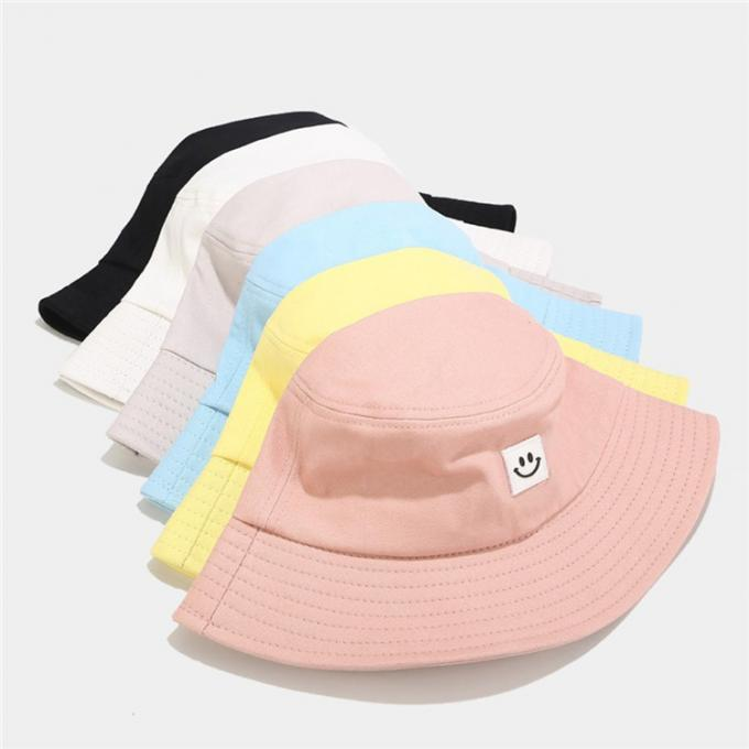Women Smile Print Muts Fisherman Bucket Hat Casquette Sunscreen Outdoor Sombrero